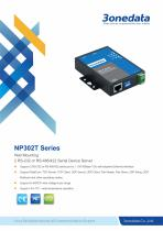 3onedata | NP302T | 2-port RS-232 or RS-485/422 Serial Device Server