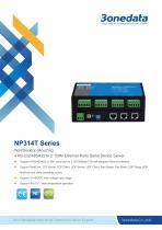 3onedata | NP314T | 4-port RS-232/485/422 to 2-port Ethernet Converter