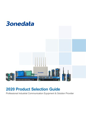 3onedata Product Selection Guide 2020
