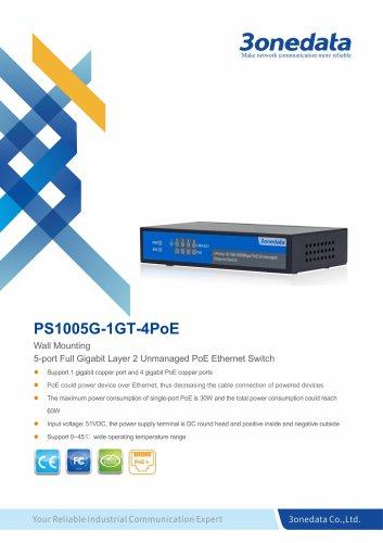 3onedata | PS1005G-1GT-4PoE | POE Switch | Unmanaged | 4 ports 10/100M PoE Switch
