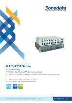 3onedata   RACK2000   14/16-Slot Card/Desktop Media Converter Rack