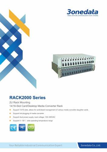 3onedata | RACK2000 | 14/16-Slot Card/Desktop Media Converter Rack