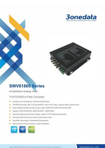 3onedata | SWV61800 | 8-Channel TVI/CVI/AHD Video to Fiber Converter
