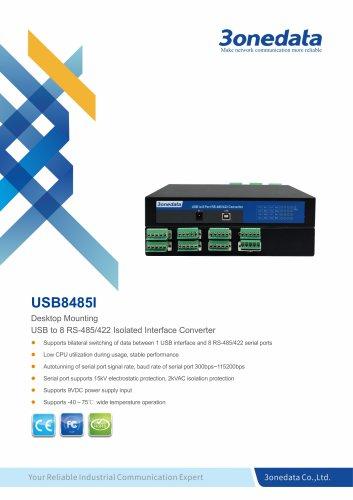 3onedata | USB8485I | USB to 8-port RS-485/422 Converter