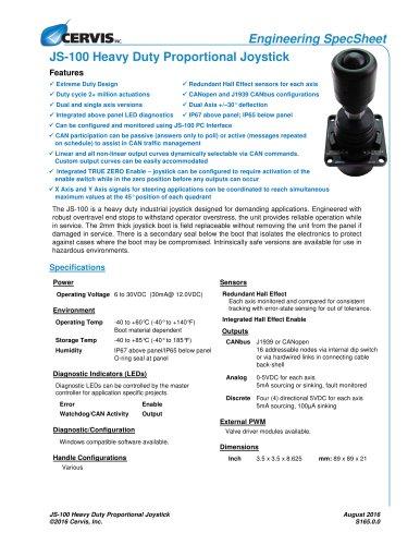 JS-100 Heavy Duty Proportional Joystick