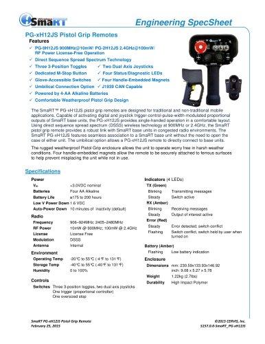 PG-xH12JS Pistol Grip Remote