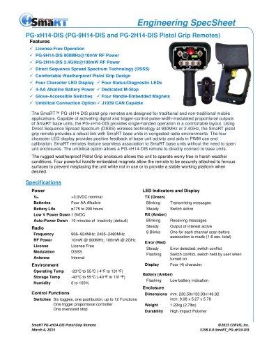 PG-xH14-DIS Pistol Grip Remote Family