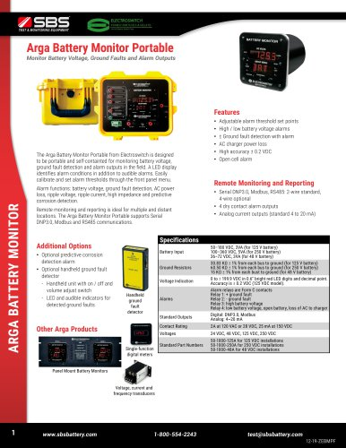 Arga Battery Monitor Portable