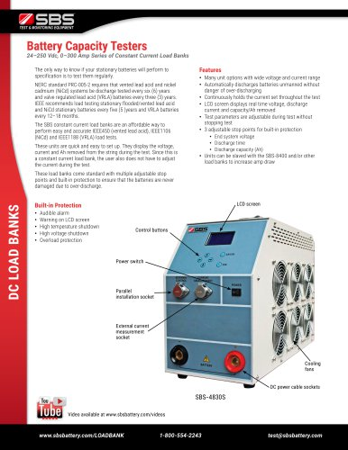 SBS-1110S load bank