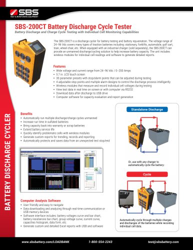SBS-200CT Battery Discharge Cycle Tester