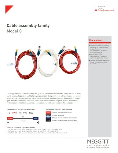 Cable assembly family Model C