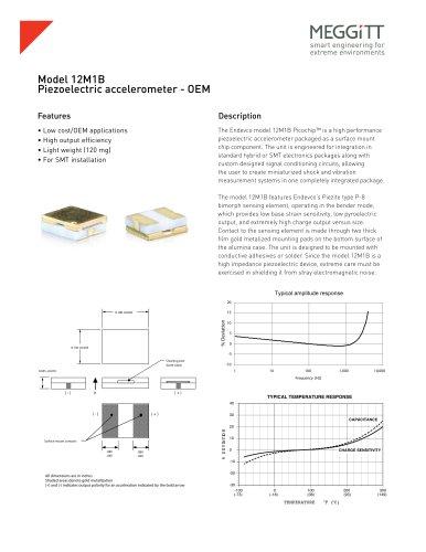 Endevco® Model 12M1B Surface Mount Chip Accelerometer - OEM