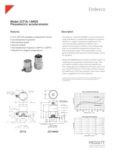 Endevco® Model 2271A Series Cryogenic Accelerometers