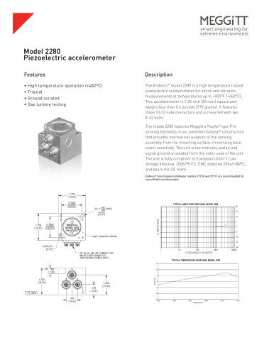 Endevco® Model 2280 piezoelectric accelerometer