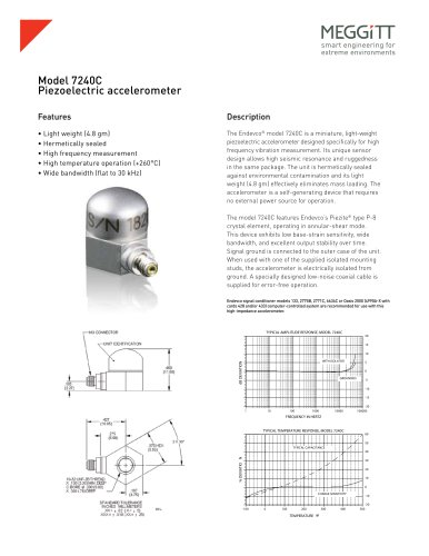 Endevco® Model 7240C Miniature Piezoelectric Accelerometer