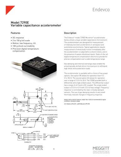 Endevco® Model 7290E Variable Capacitance Accelerometer