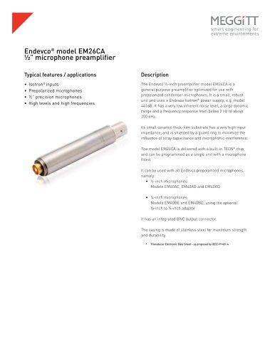 "Endevco® model EM26CA ½"" microphone preamplifier"