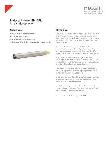 Endevco® model EM40PL array microphone