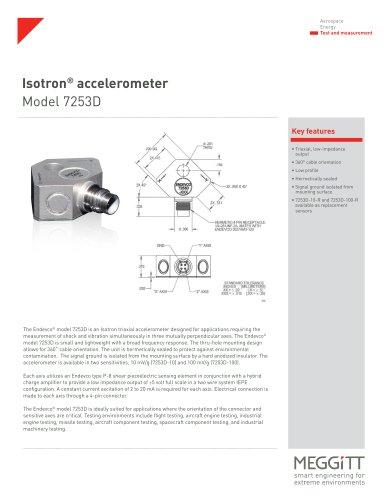 Isotron accelerometer Model 7253D