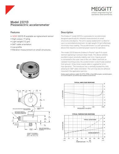 Details about  /ACCELEROMETER ENDEVCO MEGGITT 42A13 VIBRATION SENSOR AS IS #88-79
