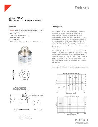 Model 2226C Piezoelectric accelerometer