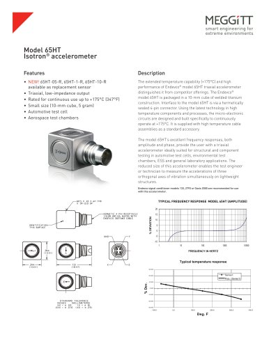 Model 65HT High Temperature Isotron® accelerometer