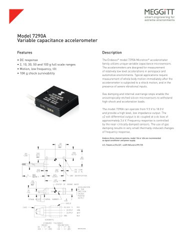 Model 7290A Microtron® Variable Capacitive Accelerometer
