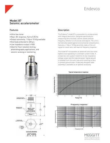 Model 87 Seismic Accelerometer