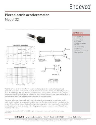 Piezoelectric accelerometer Model 22
