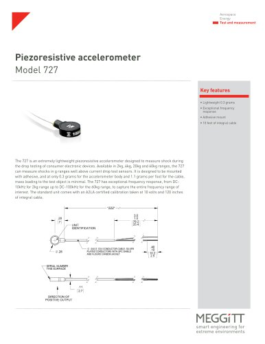 Piezoresistive accelerometer Model 727
