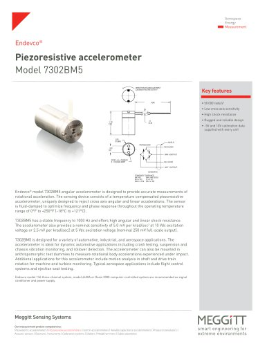 Piezoresistive accelerometer Model 7302BM5