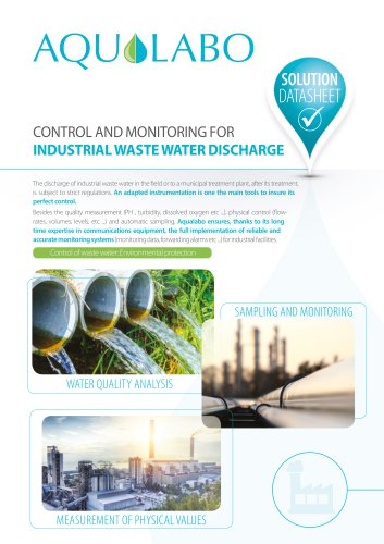 Datasheet - Industrial waste water discharge