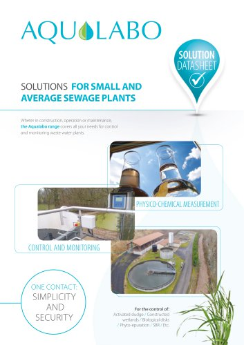 Datasheet - Small and Average Sewage Plant