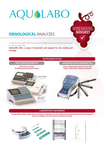 Datasheet - Winemaking oenological analyzes