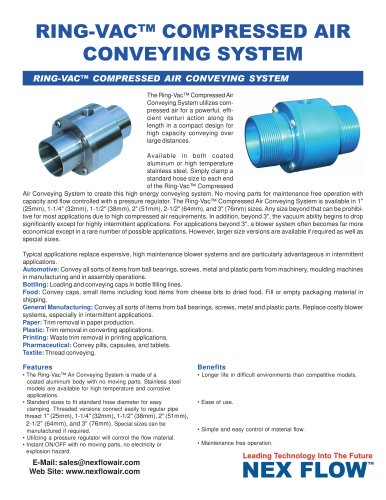 Air Conveyors - Ring-Vac™ Pneumatic Conveying System