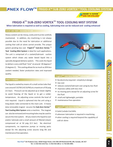 Mist Tool Cooling System