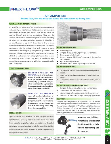 Standard Air Amplifier for rugged applications