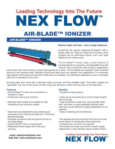 Static Eliminator - Air-Blade™ Ionizer