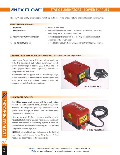 STATIC ELIMINATORS - POWER SUPPLIES