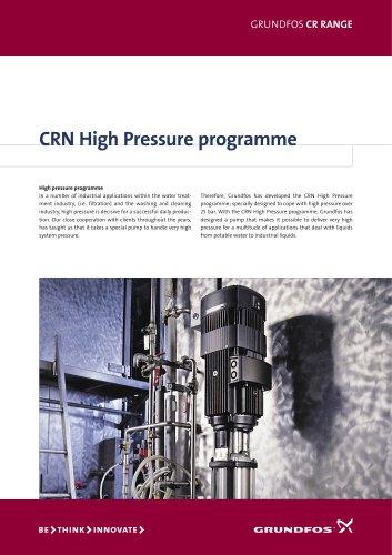 CRN high pressure programme