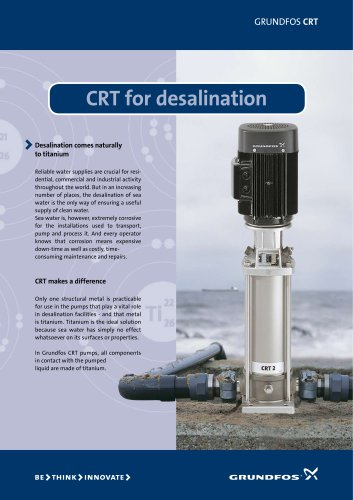 CRT - for desalination