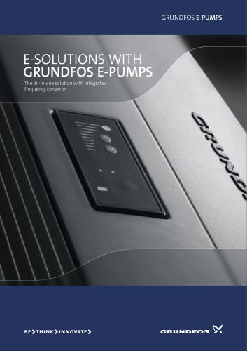 E-solutions with Grundfos E-pumps