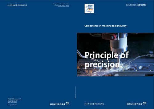 Principle of precision (Product brochure)