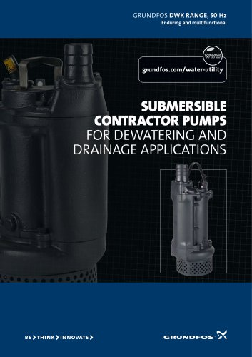 Submersible Contractor Pumps For dewatering and drainage applications