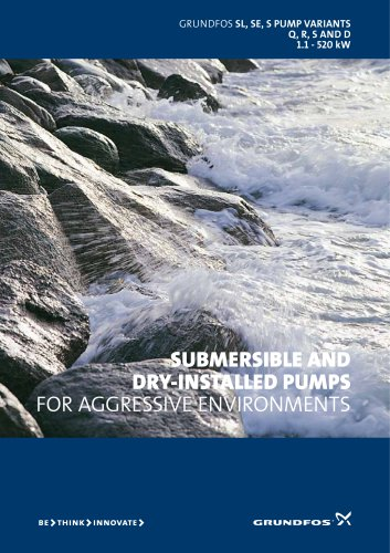 Submersible and dry-installed pumps for aggressive environments