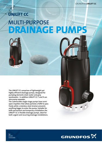 UNILIFT CC, MULTI-PURPOSE DRAINAGE PUMPS