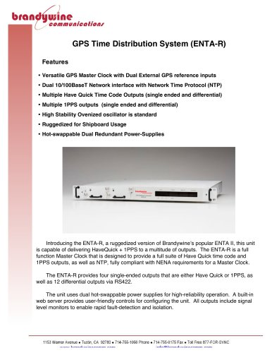 GPS Time Distribution System (ENTA-R) - Brandywine