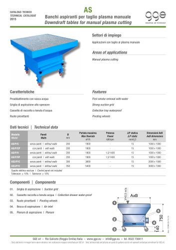 AS – Downdraft table for plasma cutting