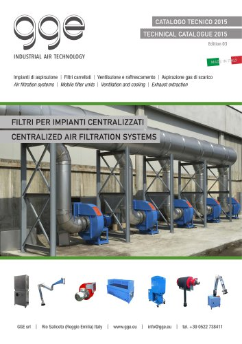 Centralized air filtration systems