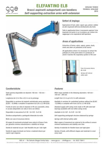 ELEFANTINO ELB – Extraction arm with extension